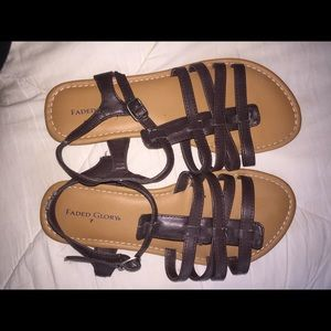 Faded Glory Sandals Size 7